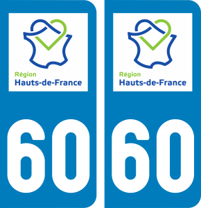 Oise Paire Sticker Hauts-de-France 60