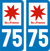 sticker 75 - Paris
